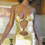 Ebony babe nude tits