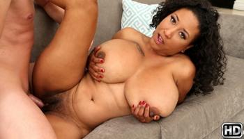 Busty black girl Danni Lynne