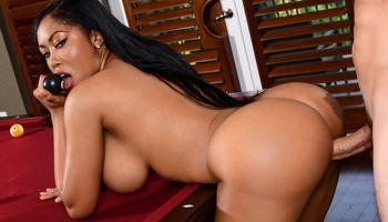 Curvy ebony Moriah Mill in fucking porn scene